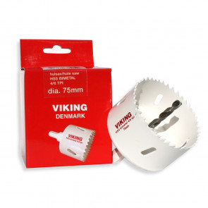 Viking hulsav 75 mm m/fast holder (71075H)