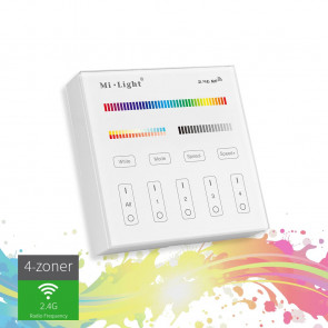 Smart Light Touch Vægpanel RGB+CCT+4 zoner (2*AAA batt.)